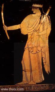 Hekate with torches